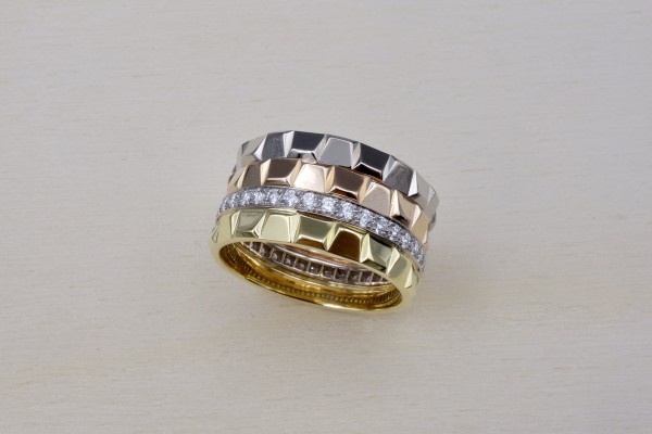 "Bague ""MOBIUS"", double"